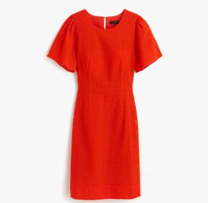 J.Crew flutter-sleeve dress low res