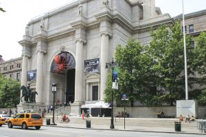 New York, USA - August 8, 2012 : People are walking to the entrance of the American Museum of Natural History located on the Upper West Side of Manhattan.
