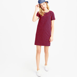 j.crew-striped-dress