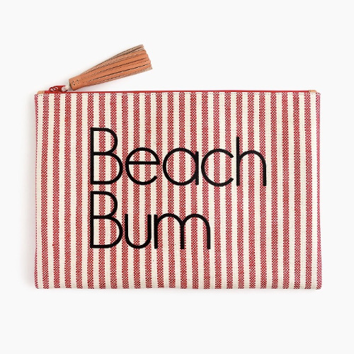 The Beach Bum pouch by J.Crew