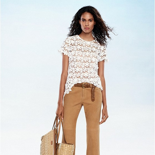 Mixed Floral Lace Top from Michael Kors