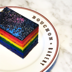 Bouchon Bakery's seven-layered rainbow cake