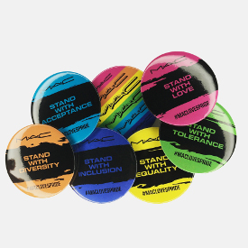 Buttons from M.A.C. to help celebrate Pride