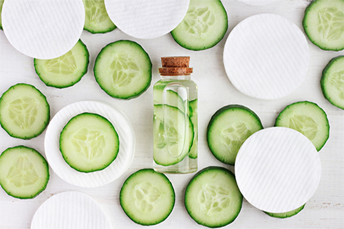 Cucumbers on pads