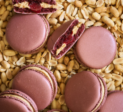 Peanut Butter & Jelly Macarons at Bouchon Bakery