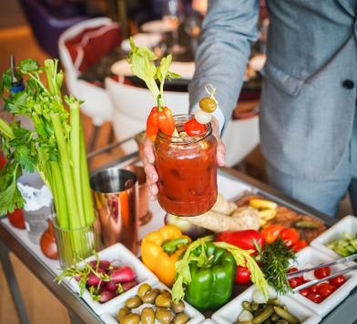 Build your own Bloody Mary cart