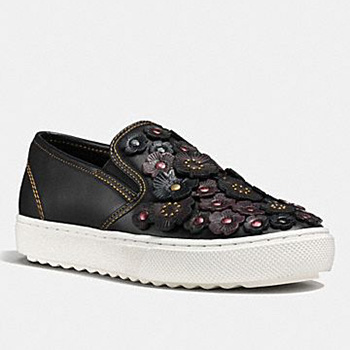 Coach Rose Embellished leather shoe