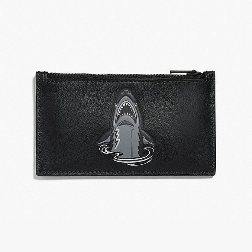 The leather Zip Card Case from Coach