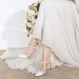 Shoes in the Jenny Packham Bridal collection by L.K. Bennett