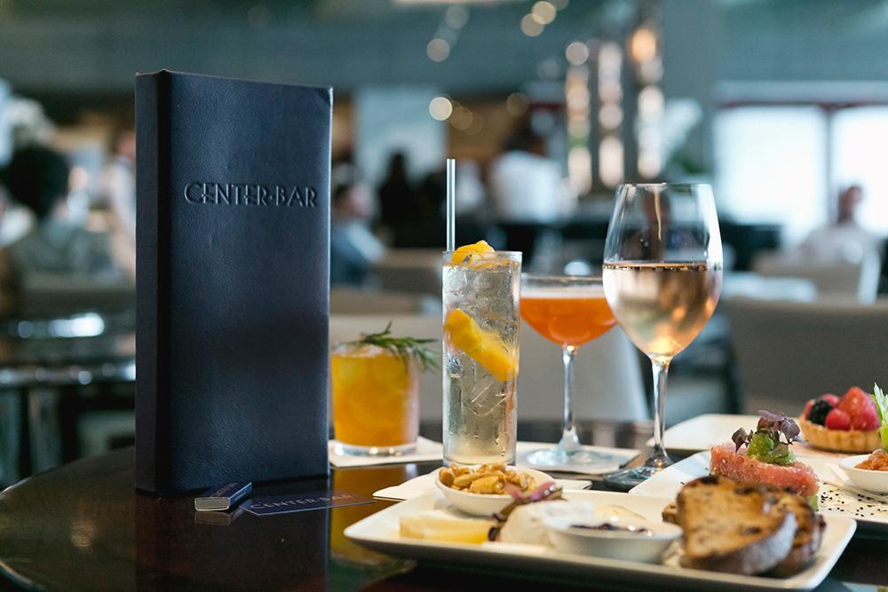 Centerbar menu, drinks and food