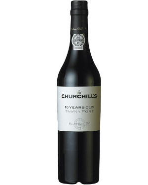 A bottle of Churchill's 10 Year Old Tawny