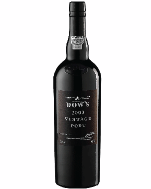 A bottle of Dow's 2003 Vintage Port