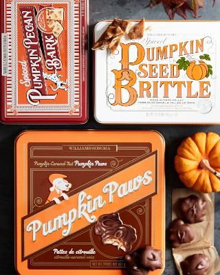 Pumpkin brittle and other assorted pumpkin treats from Williams-Sonoma