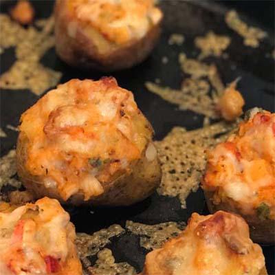 Twice-Baked Lobster-Stuffed Potatoes