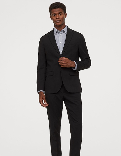 H&M Athletic Fit Suit with pants and blazer