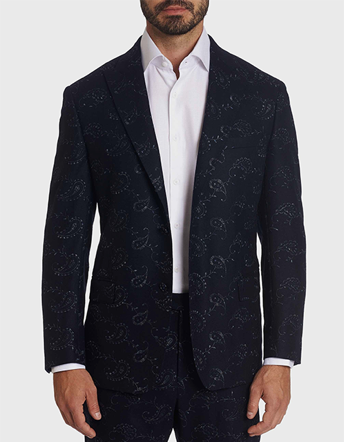 Robert Grapham embroidery paisley sport coat and matching pants