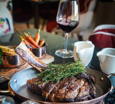 Steak and Wine at Bluebird London