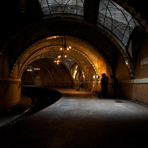 Dimly Lit Old City Hall Subway Station
