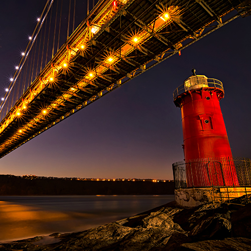 The Little Red Lighthouse and Bridge