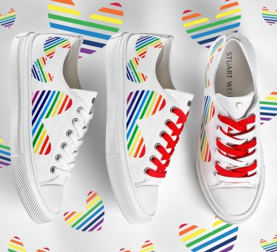 Limited-Edition Pride Sneakers at Stuart Weitzman